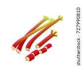 vegetables. rhubarb  whole and... | Shutterstock .eps vector #727990810