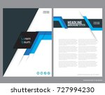 abstract vector modern flyers... | Shutterstock .eps vector #727994230