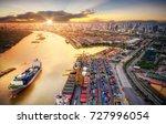 logistics and transportation of ... | Shutterstock . vector #727996054