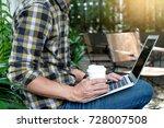 businessman do business use... | Shutterstock . vector #728007508
