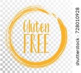gluten free label vector ...