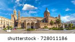 palermo cathedral in palermo ... | Shutterstock . vector #728011186