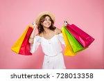 portrait of a joyful smiling... | Shutterstock . vector #728013358