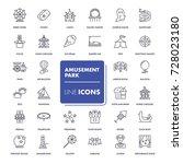 line icons set. amusement park ... | Shutterstock .eps vector #728023180