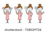 women  answer | Shutterstock .eps vector #728029726