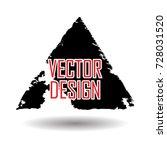 grunge post stamp  triangle.... | Shutterstock .eps vector #728031520