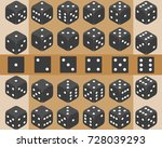 dice  a set of dice  play dice. ... | Shutterstock .eps vector #728039293