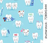 tooth character personage... | Shutterstock .eps vector #728041444