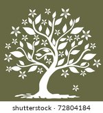 abstract floral tree  symbol of ...