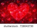 dark red vector abstract... | Shutterstock .eps vector #728043730