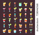 set vector illustration of... | Shutterstock .eps vector #728046568