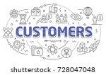 linear illustration of a slide... | Shutterstock .eps vector #728047048