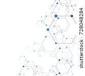 abstract molecular hexagon...   Shutterstock .eps vector #728048284