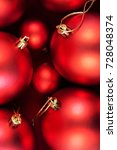 red christmas baubles | Shutterstock . vector #728048374
