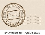 postal stamp with ankara title. ... | Shutterstock .eps vector #728051638