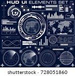 set of futuristic graphic user...