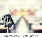 soft focus with microphone... | Shutterstock . vector #728052574