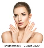beauty face of the young... | Shutterstock . vector #728052820