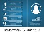 resume   cv template design   Shutterstock .eps vector #728057710