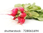 fresh radish | Shutterstock . vector #728061694