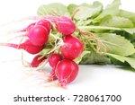 fresh radish | Shutterstock . vector #728061700