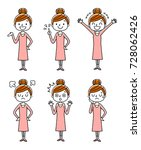women  sets  variations | Shutterstock .eps vector #728062426