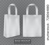 realistic shopping bag...   Shutterstock .eps vector #728064880