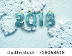 new year 2018  christmas... | Shutterstock . vector #728068618