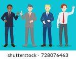 cartoon business man on the... | Shutterstock . vector #728076463