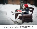 on the skating ring. beautiful... | Shutterstock . vector #728077813