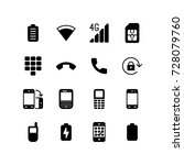 mixed icons of mobile phone and ...   Shutterstock .eps vector #728079760