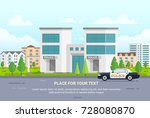 city police station with place... | Shutterstock .eps vector #728080870