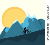 cross country mountain bike... | Shutterstock .eps vector #728084164