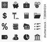 finance icons vector | Shutterstock .eps vector #728084314