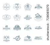 electric tools logo icons set.... | Shutterstock .eps vector #728085070