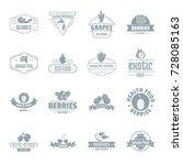 berries logo icons set. simple... | Shutterstock .eps vector #728085163