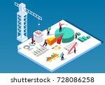 data engineering construction | Shutterstock .eps vector #728086258