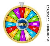 wheel of fortune isolated on... | Shutterstock . vector #728087626