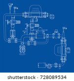 sketch industrial equipment.... | Shutterstock .eps vector #728089534