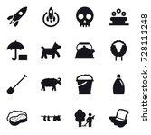 16 vector icon set   rocket ... | Shutterstock .eps vector #728111248