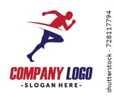 running and marathon logo vector | Shutterstock .eps vector #728117794