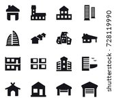 16 vector icon set   home ... | Shutterstock .eps vector #728119990