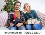 couple celebrating new year | Shutterstock . vector #728121310
