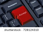 pc keyboard red button with... | Shutterstock . vector #728124310