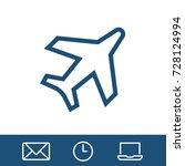 aircraft plane icon vector fat... | Shutterstock .eps vector #728124994