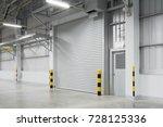 roller shutter door and... | Shutterstock . vector #728125336
