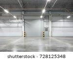 shutter door or roller door and ... | Shutterstock . vector #728125348