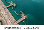 aerial view of oil tanker ship... | Shutterstock . vector #728125648