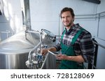 portrait of smiling male worker ... | Shutterstock . vector #728128069