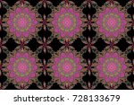 cute fabric pattern. raster... | Shutterstock . vector #728133679